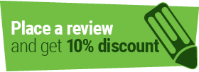 Receive 10% Discount on your order for placing a review